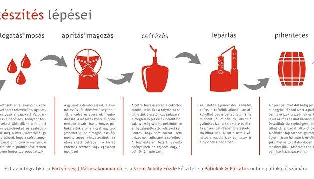 A házi pálinka készítés lépései | Partyőrség infografika