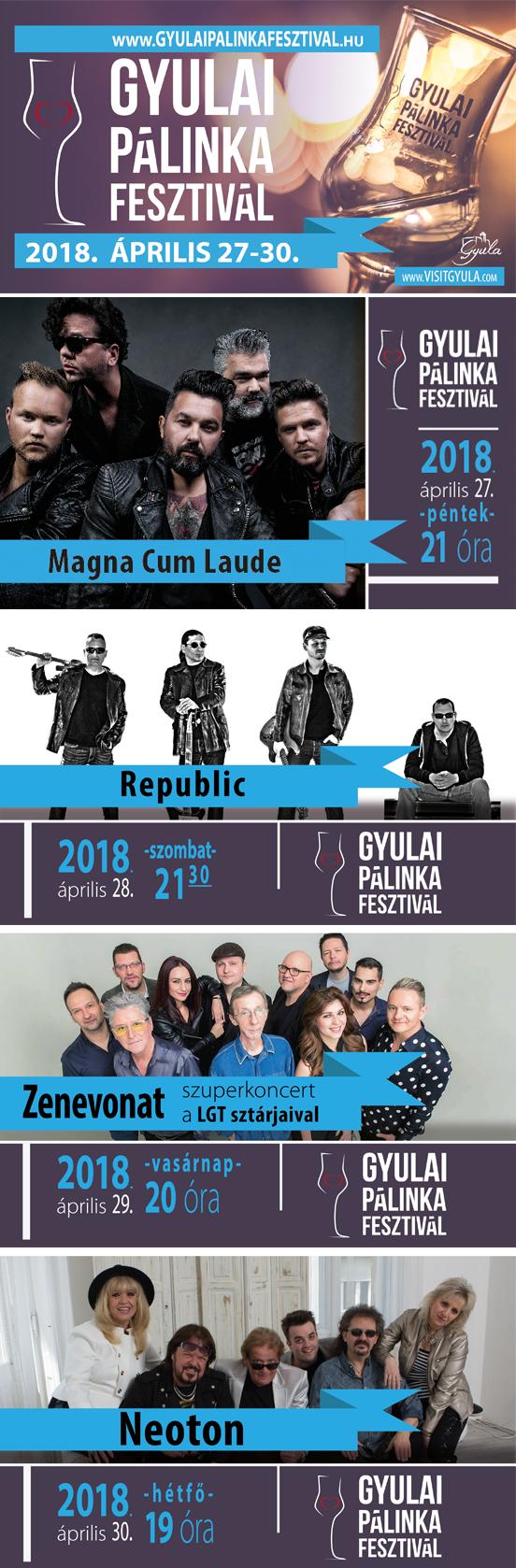 Gyulai Pűlinkafesztivál banner
