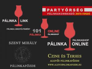 Pálinkák és Párlatok online pálinkázó támogatói