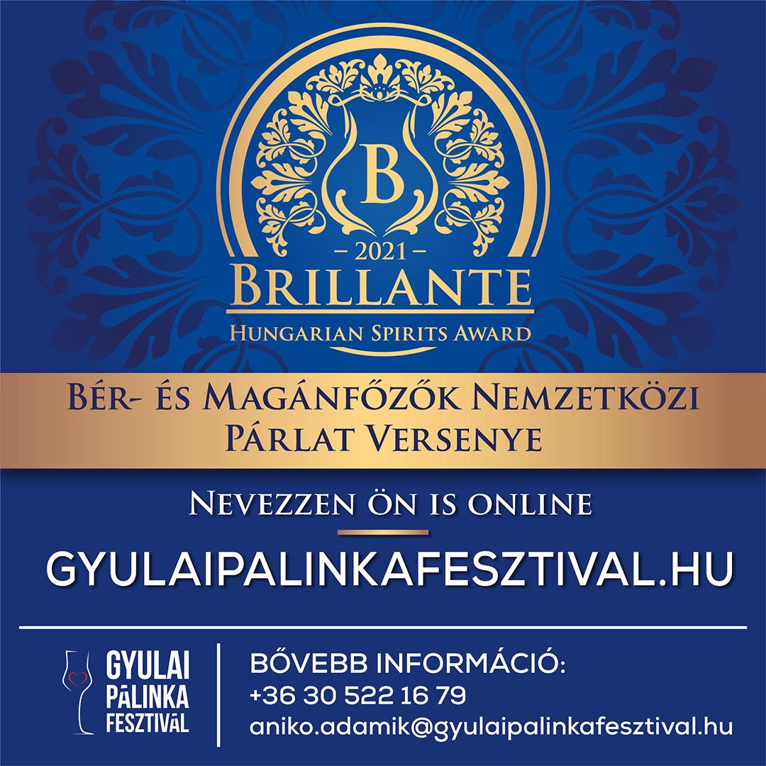 Brillante 2021 Nemzetközi Pálinka és párlatverseny